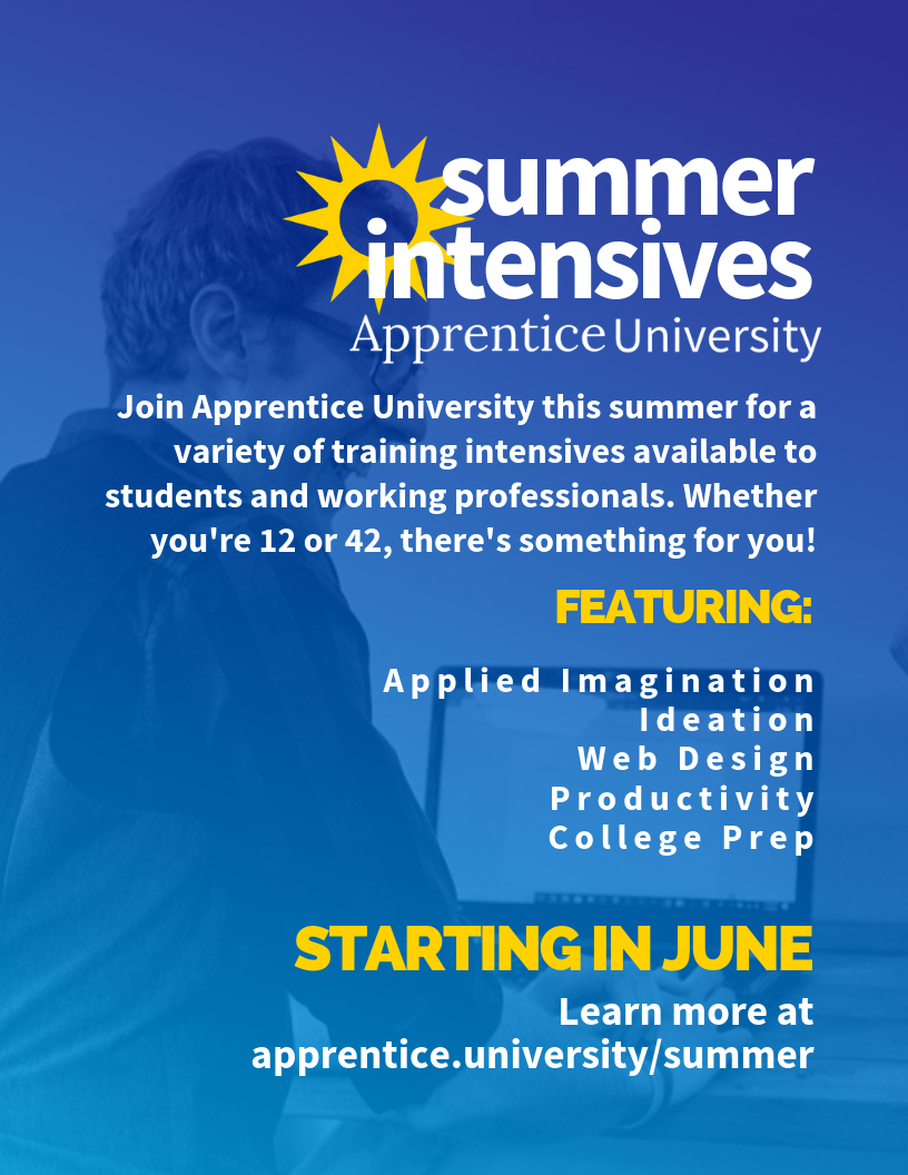 Here's the flyer for our intensives!